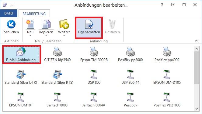 M Email Anbindung Eigenschaften BP