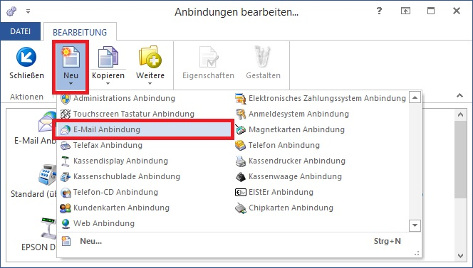 M Email Anbindung NeuAuswahl BP